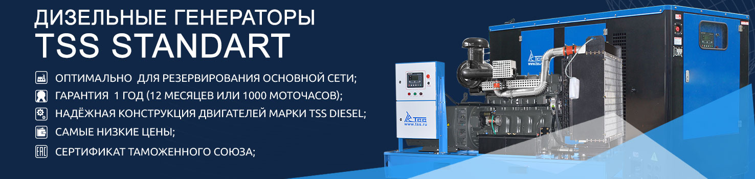 Дизельные генераторы TSS Standart